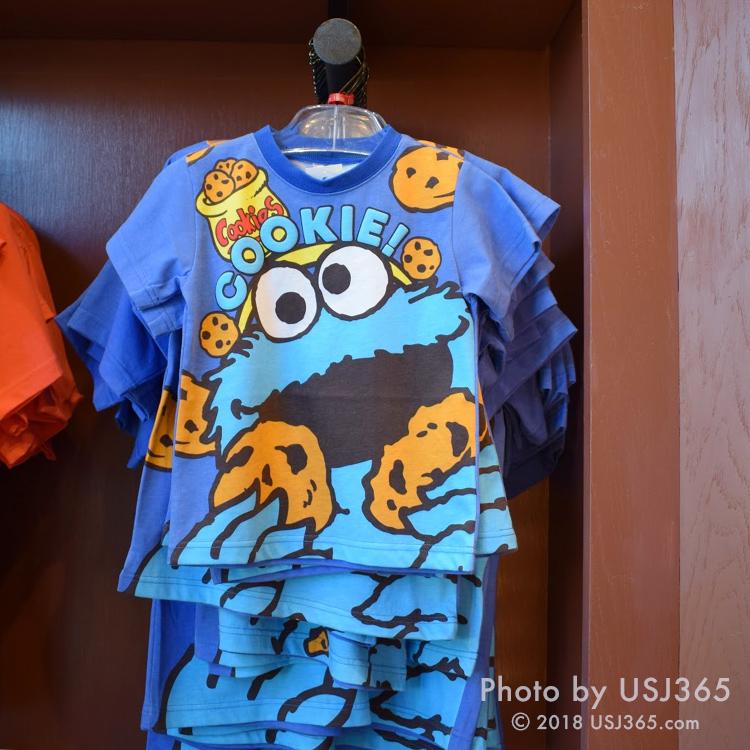 セサミストリート クッキーモンスター Tシャツ(キャラクターフェイス)キッズ用