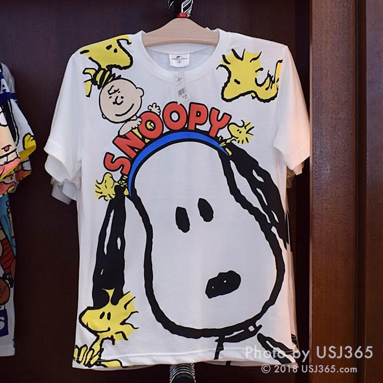スヌーピー Tシャツ(キャラクターフェイス)