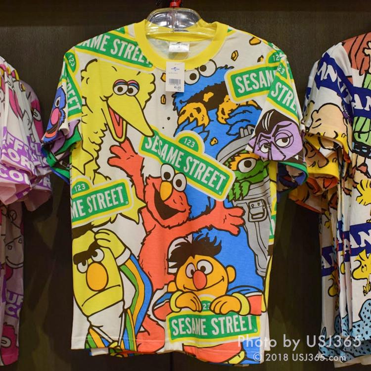 セサミストリート Tシャツ(パターン柄)