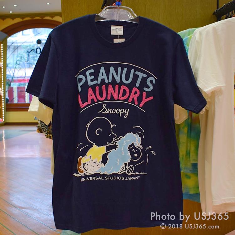 スヌーピー Tシャツ(PEANUTS LAUNDRY)ネイビー