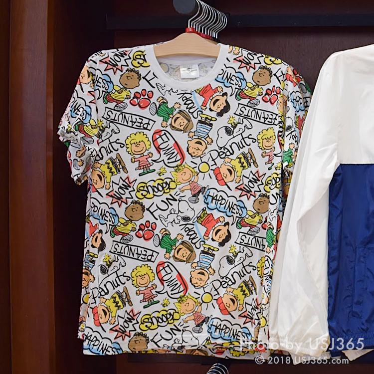 スヌーピー 総柄Tシャツ