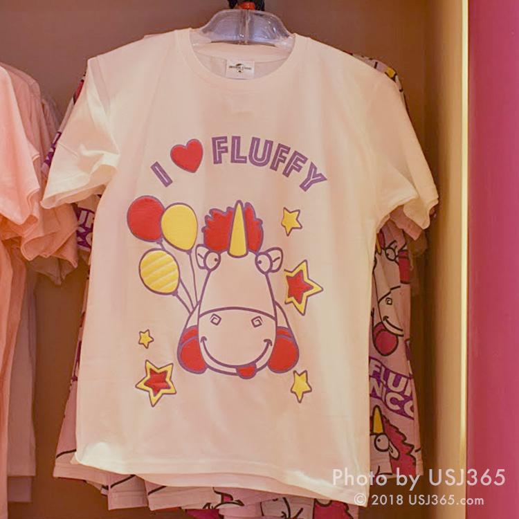 フラッフィ Tシャツ(I LOVE FLUFFY)ホワイト
