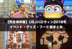 【完全保存版】USJハロウィン2018年イベント・グッズ・フード総まとめ