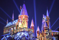【USJクリスマス】ハリーポッターエリアのキャッスルショーやデコレーションまとめ