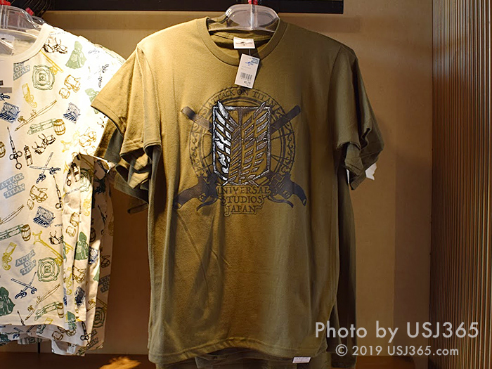 進撃の巨人 Tシャツ(カーキ)