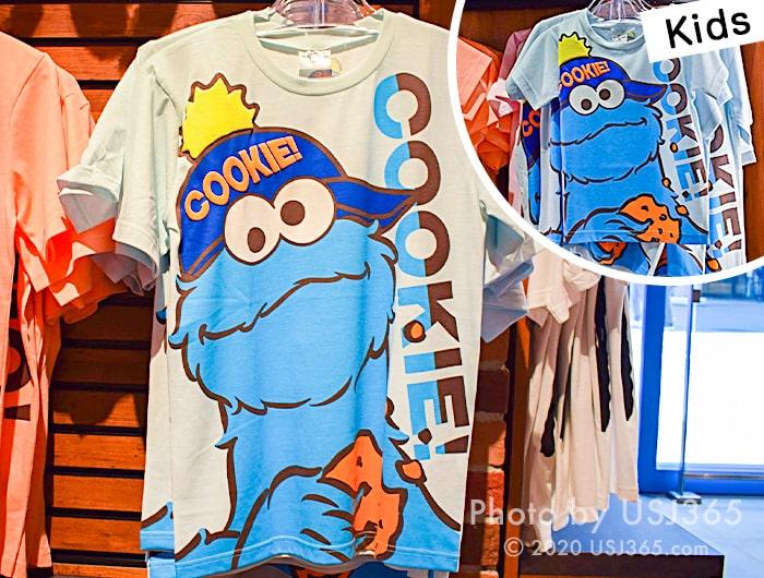 クッキーモンスター Tシャツ (ビッグフェイス)