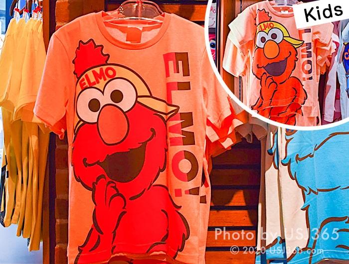 エルモ Tシャツ (ビッグフェイス)