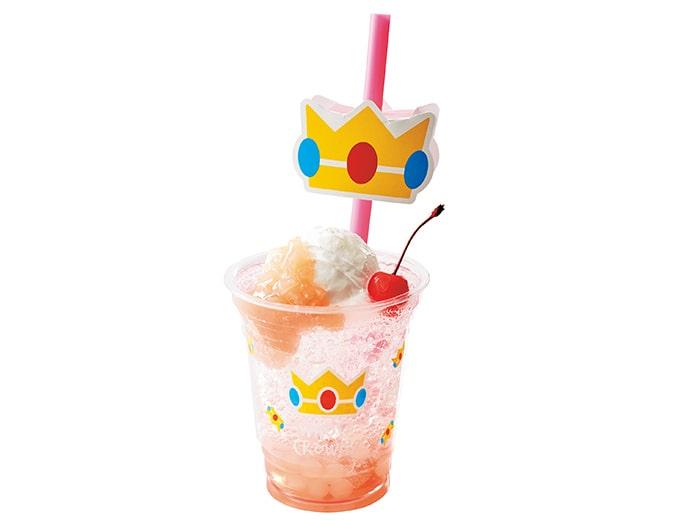 フルーツ・クリームソーダ ピーチ姫の桃クリームソーダ