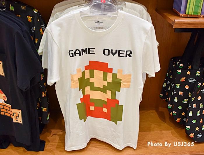 Tシャツ 白 スーパー・ニンテンドー・ワールド 8bitマリオ(大人用)