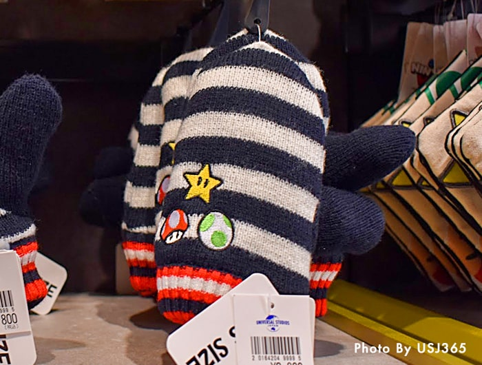 手袋 スーパーキノコ&スーパースター&ヨッシーのタマゴ