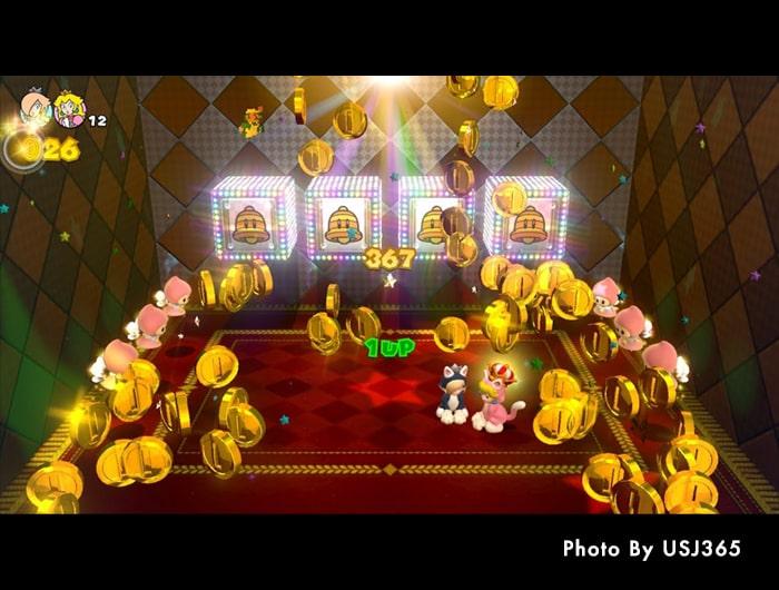 スーパーマリオ3Dワールドのゲーム画面