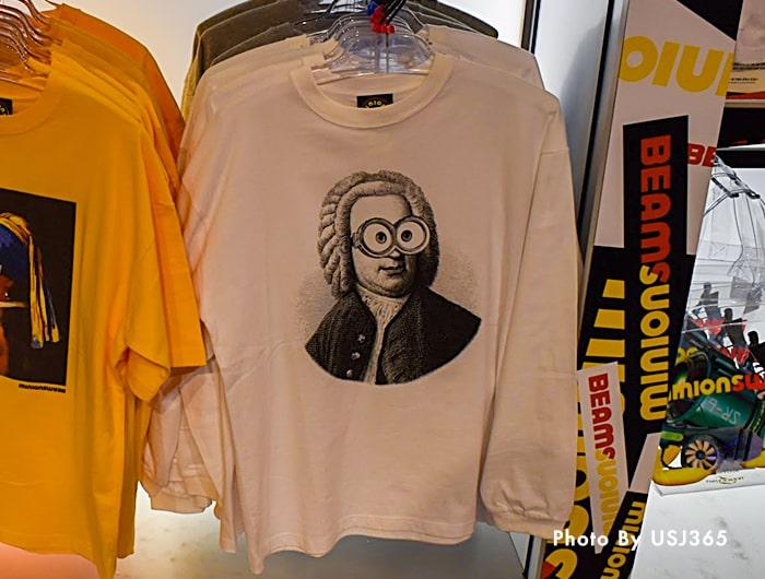 ロングTシャツ(ホワイト) ミニオン×BEAMSコラボ
