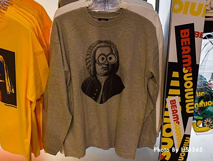 ロングTシャツ(グレー) ミニオン×BEAMSコラボ